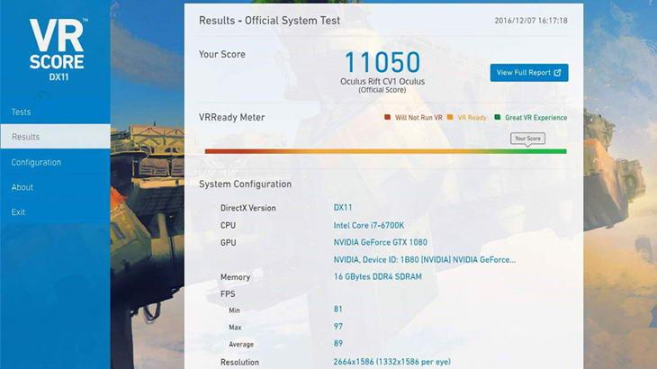 VRScore тества компютъра ви и препоръчва подходящите VR очила
