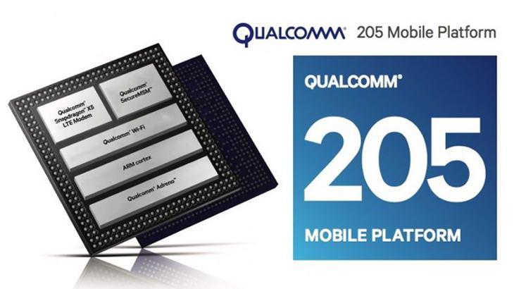 Процесорът Qualcomm 205 осигурява 4G и в смартфони от нисък клас