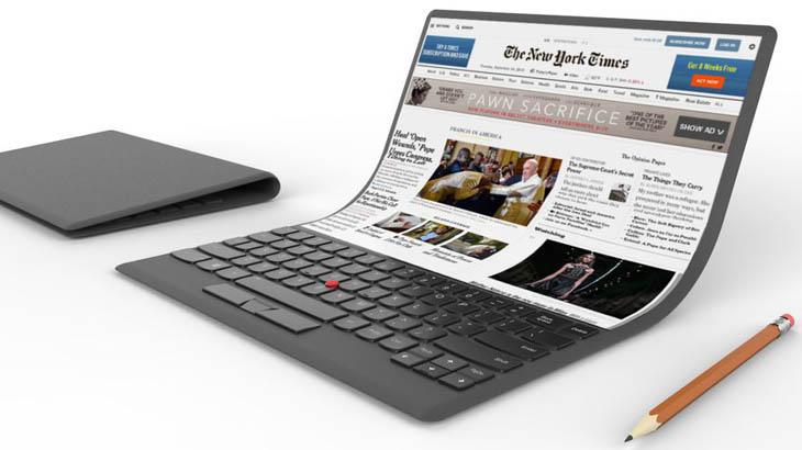 Lenovo изуми света с огъващ се, но съмнително функционален лаптоп