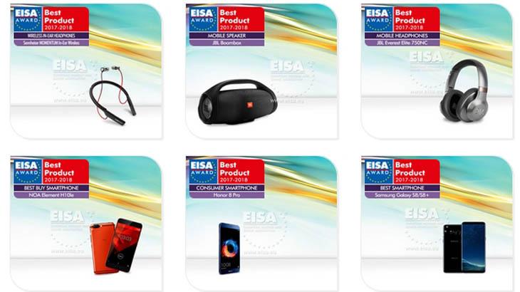 EISA отличи новите смартфони на Samsung и Huawei