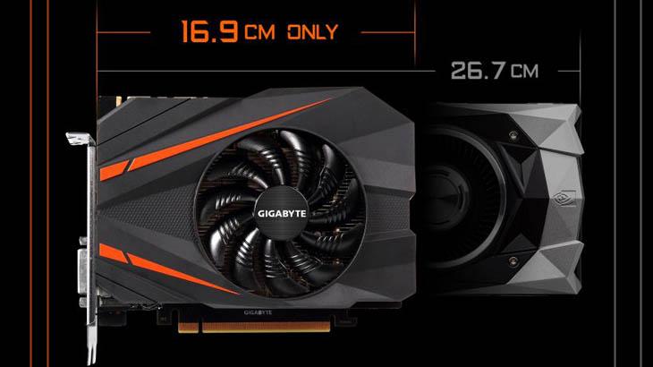 Най-компактната видеокарта GeForce GTX 1080 е дело на Gigabyte