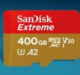 Най-бързата microSD карта е на SanDisk и с капацитет 400GB