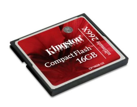 16GB CF Kingston Ultimate 266X, червен на супер цени