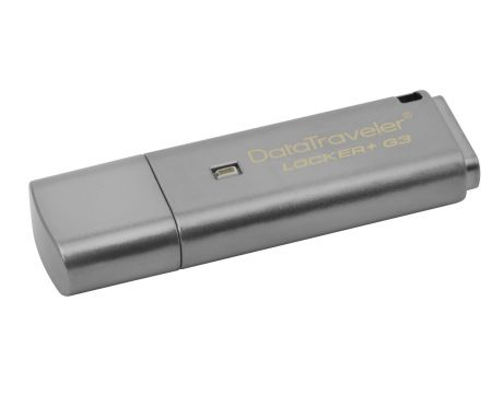 16GB Kingston DataTraveler Locker+ G3, сив на супер цени