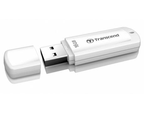 16GB Transcend JetFlash 370, бял на супер цени