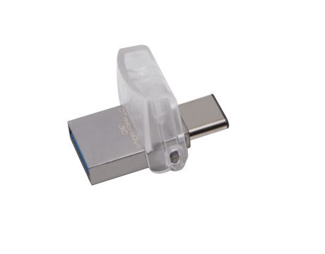 32GB Kingston DataTraveler microDuo, сив на супер цени