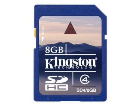 8GB SDHC Kingston, син на супер цени