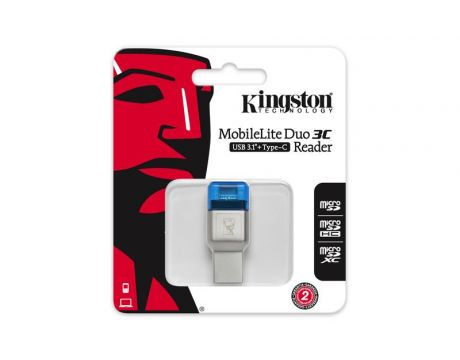 Kingston MobileLite Duo 3C, син на супер цени