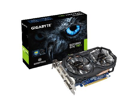 GIGABYTE GeForce GTX 750 Ti 2GB OC на супер цени
