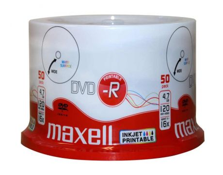 Maxell DVD-R 4.7 GB, 50 броя на супер цени