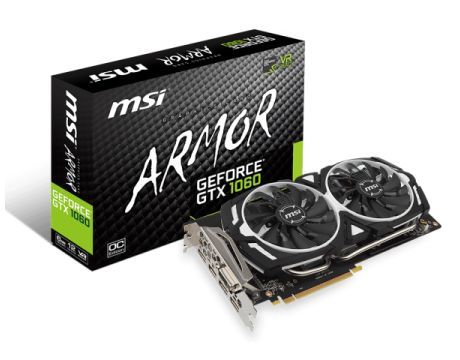 MSI GeForce GTX 1060 6GB ARMOR OC на супер цени