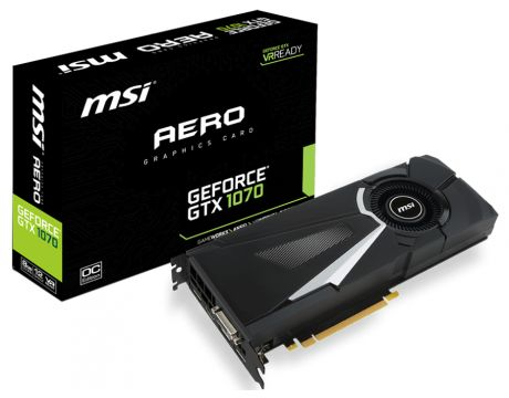 MSI GeForce GTX 1070 8GB AERO OC на супер цени