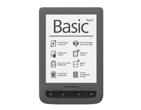 "PocketBook Basic Touch PB624 6"", сив на супер цени"