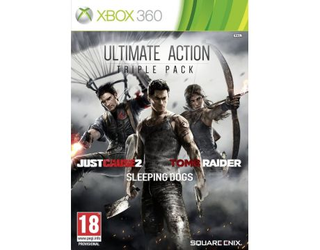 Ultimate Action Pack - Just Cause 2, Sleeping Dogs, Tomb Raider (Xbox 360) на супер цени