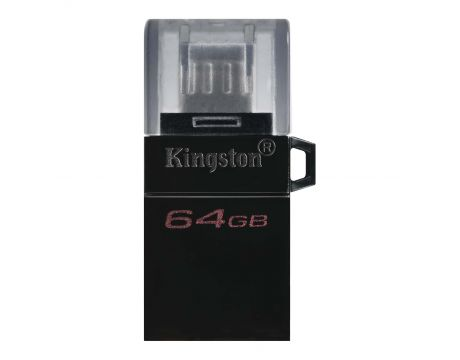 64GB Kingston DataTraveler MicroDuo3 G2, черен на супер цени
