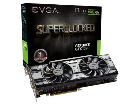EVGA GeForce GTX 1070 8GB SC GAMING ACX 3.0 Black Edition на супер цени