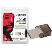 Флаш памет 16GB Kingston DataTraveler microDuo, кафяв на супер цени